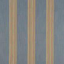 Boho Stripe Denim Rouge Curtains